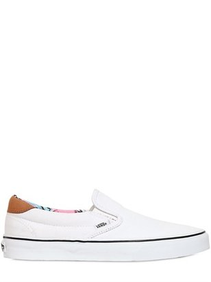 Vans Classic Cotton Canvas Slip On Sneakers
