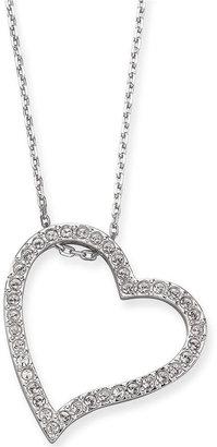 Swarovski Pendant, Crystal Pave Open Heart