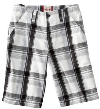 Mossimo Men's Plaid Short - White