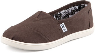 Toms Classic Canvas Slip-On, Chocolate, Youth