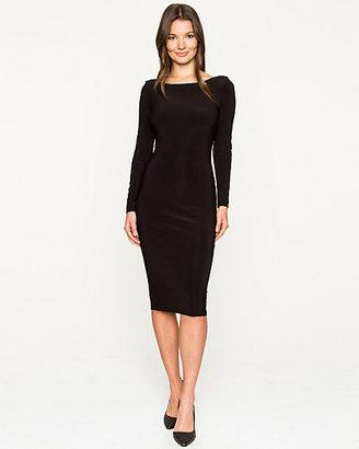 Le Château Knit Cowl Back Dress