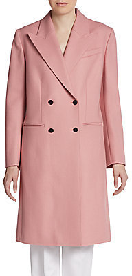 Dolce & Gabbana Virgin Wool-Blend Double-Breasted Coat