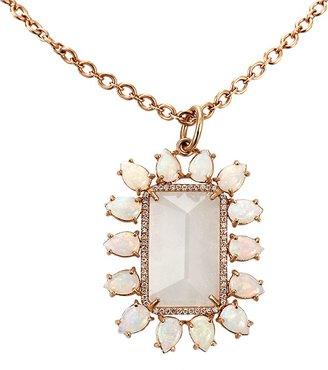 Irene Neuwirth JEWELRY Rainbow Moonstone Pendant Necklace