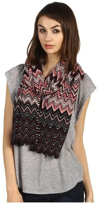Missoni Scalloped ZigZag Scarf (Pink) - Accessories