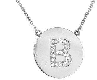 Jennifer Meyer Diamond Letter Necklace - B - White Gold
