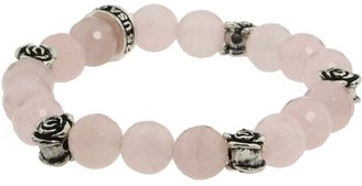 King Baby Studio - 10mm Rose Quartz Four Roses Bracelet Bracelet $280 thestylecure.com