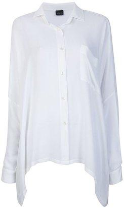 NOMAD oversized square silk shirt