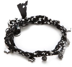 Marc by Marc Jacobs Braided Charm Double Wrap Bracelet