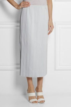 J.W.Anderson Ribbed leather wrap-effect skirt
