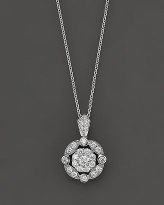 Bloomingdale's Diamond Cluster Pendant Necklace, 0.45 ct. t.w.