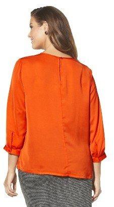 Women's Plus Size Blouse Orange Flame