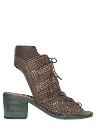 Ld Tuttle 60mm Waved Suede Boot Sandals