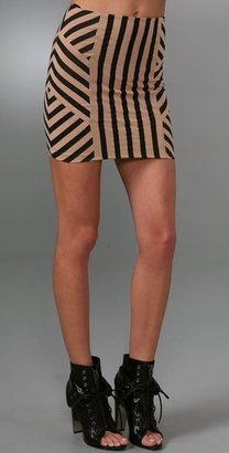 Torn By Ronny Kobo Nina African Stripe Skirt
