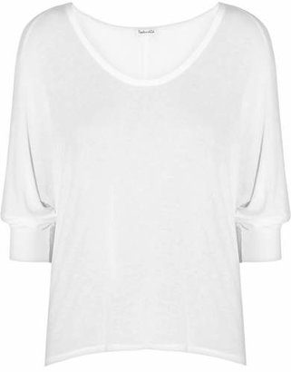 Splendid - Draped Stretch-jersey Top - White $95 thestylecure.com