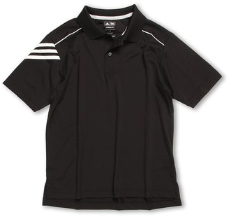 adidas Kids - Climalite 3-Stripe Polo (Big Kids) (Black/White) - Apparel