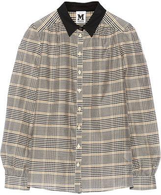 M Missoni Plaid cotton and silk-blend shirt