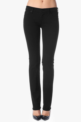 7 For All Mankind Classic Straight Leg In Black Black