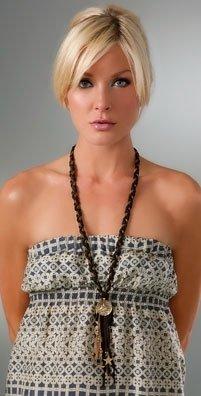 Cynthia Dugan Jewelry Bird Braided Leather Necklace