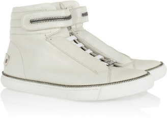 Karl Lagerfeld Leather high-top sneakers