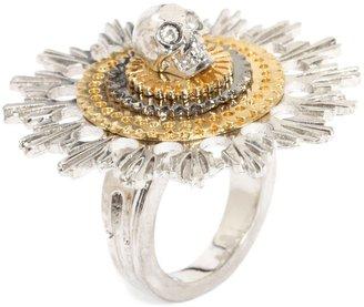 Alexander McQueen Skull Flower Ring