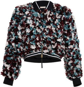 Marni 3D Multicolor Flowers Bomber Jacket
