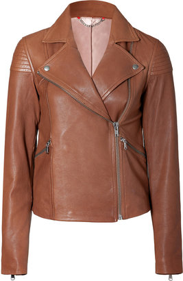 Marc by Marc Jacobs Kahlua Brown Sergeant Leather Jacket