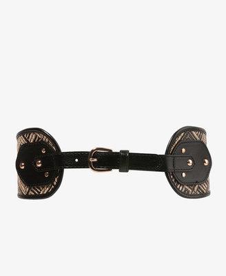 Forever 21 Basket-Woven Waist Belt