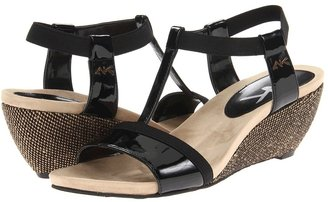 Anne Klein Cuartz (Black/Black Synthetic) - Footwear