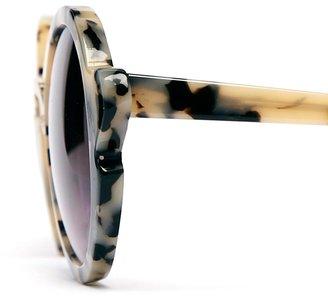 Asos Handmade Acetate Round Sunglasses With Nose & Corner Detail