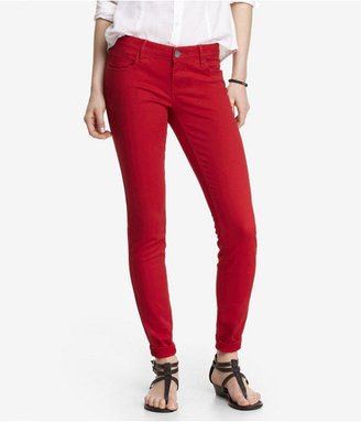 Express Five Pocket Twill Pant - Red