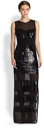 Nicole Miller Optical Sequined Gown
