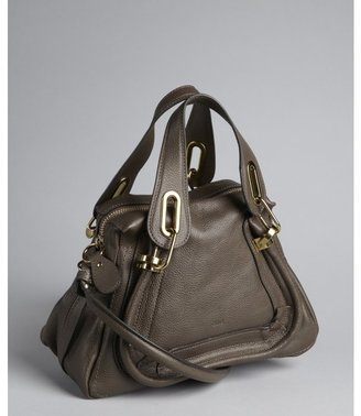 Chloé rock grey leather 'Paratay' small shoulder bag