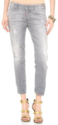 DSquared DSQUARED2 Cropped Skinny Glam Jeans