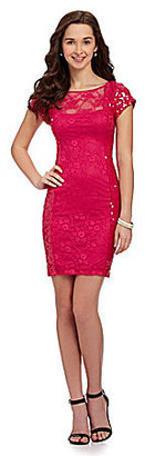 B. Darlin Sequin Lace Sheath Dress