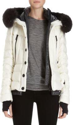 Moncler Fur-Trimmed Hooded Puffer Jacket