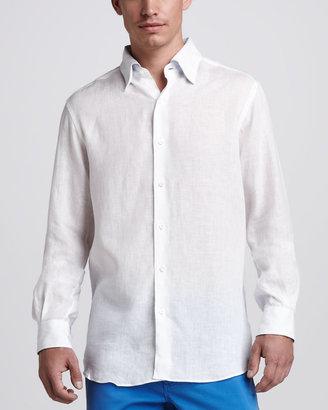 Ermenegildo Zegna Linen Sport Shirt, White
