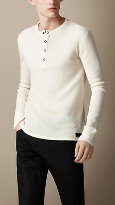 Burberry Sport Collection Waffle Cotton Henley