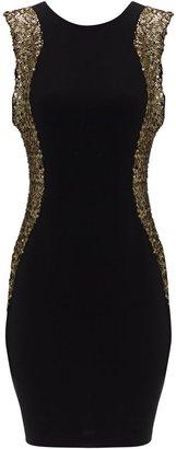 Jane Norman Women's Sequin illusion dress