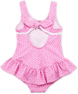 Florence Eiseman Heart One-Piece Swimsuit, Pink, Sizes 4-6X