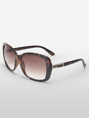 Calvin Klein Large Rectangle Plastic Sunglasses