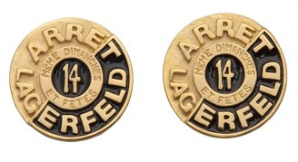 Karl Lagerfeld Vintage Logo earring