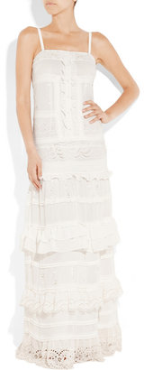 ALICE by Temperley Long Cannes embroidered chiffon maxi dress