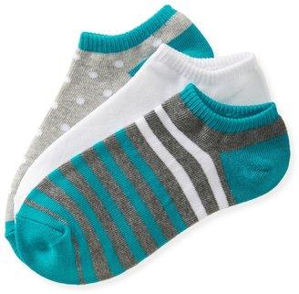 Aeropostale 3-Pack Striped Mix Ped Socks