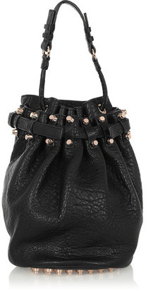 Alexander Wang - Diego Textured-leather Shoulder Bag - Black $925 thestylecure.com