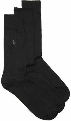 Polo Ralph Lauren Wide Rib Dress Socks - 3 Pack - Men's