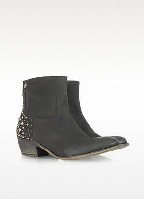 Zadig & Voltaire Teddy Clous Multico Black Leather Boot