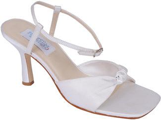 Dyeables Loveknot - White Satin Evening Sandal