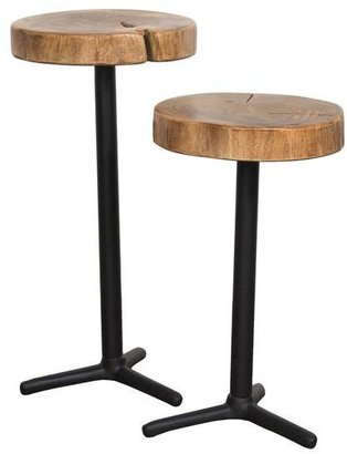 Angeles Crest Live Edge Martini Tables - Set of 2 NATURAL