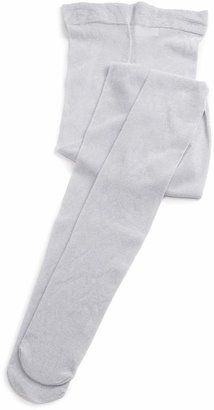Country Kids Girls' Sparkly Tights (Silver) (Size:3-5 Years)
