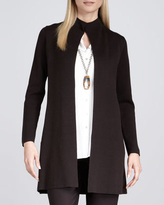 Eileen Fisher Long Stand Collar Shaped Jacket